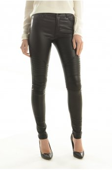 LUCY NW COATED BIKER JEANS NOOS