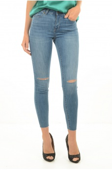 SEVEN NW SLIM KNEE CUT ANKL JEANS MIX