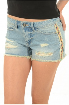 CARRIE LOW COL TAPE DNM SHORTS