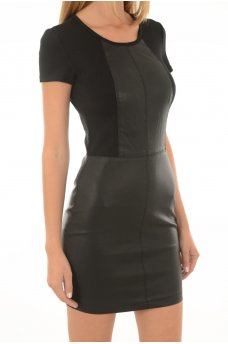HOLLY FAUX LEATHER DRESS OTW