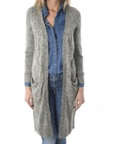 NEW HAYLEY L/S LONG CARDIGAN KNT NOOS