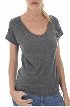 TRULY S/S V-NECK TOP ESS