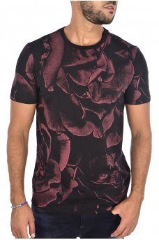 M83391 K75R7 SS BSC ALL OVR ROSES CREW TEE