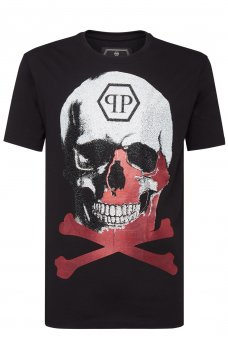 MTK3340 PLATINUM CUT ROUND NECK SKULL